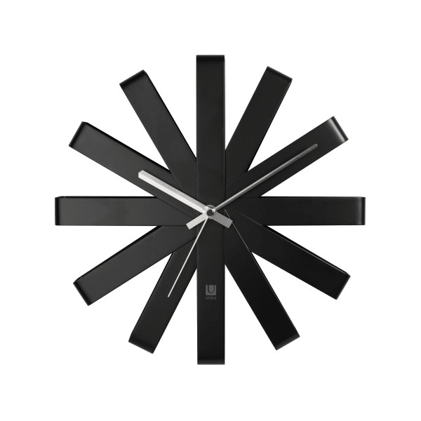 Umbra Ribbon Wall Clock Black