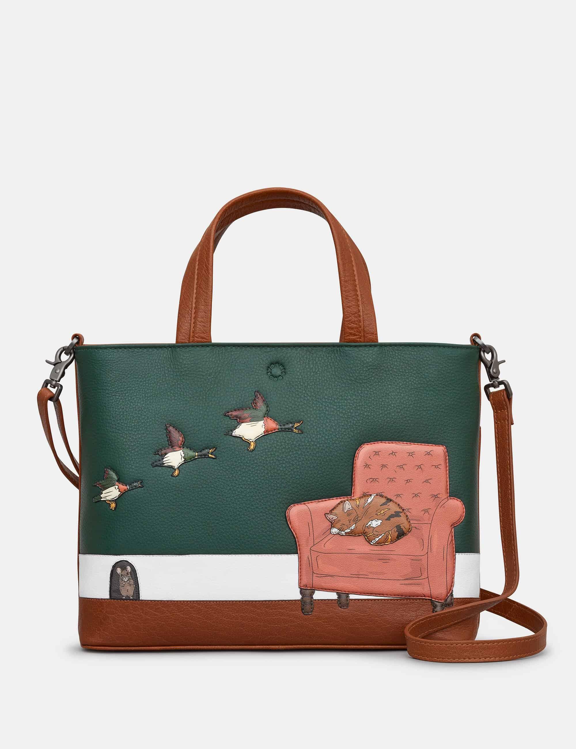 Brown Yoshi Cat Nap Multiway Grab Bag