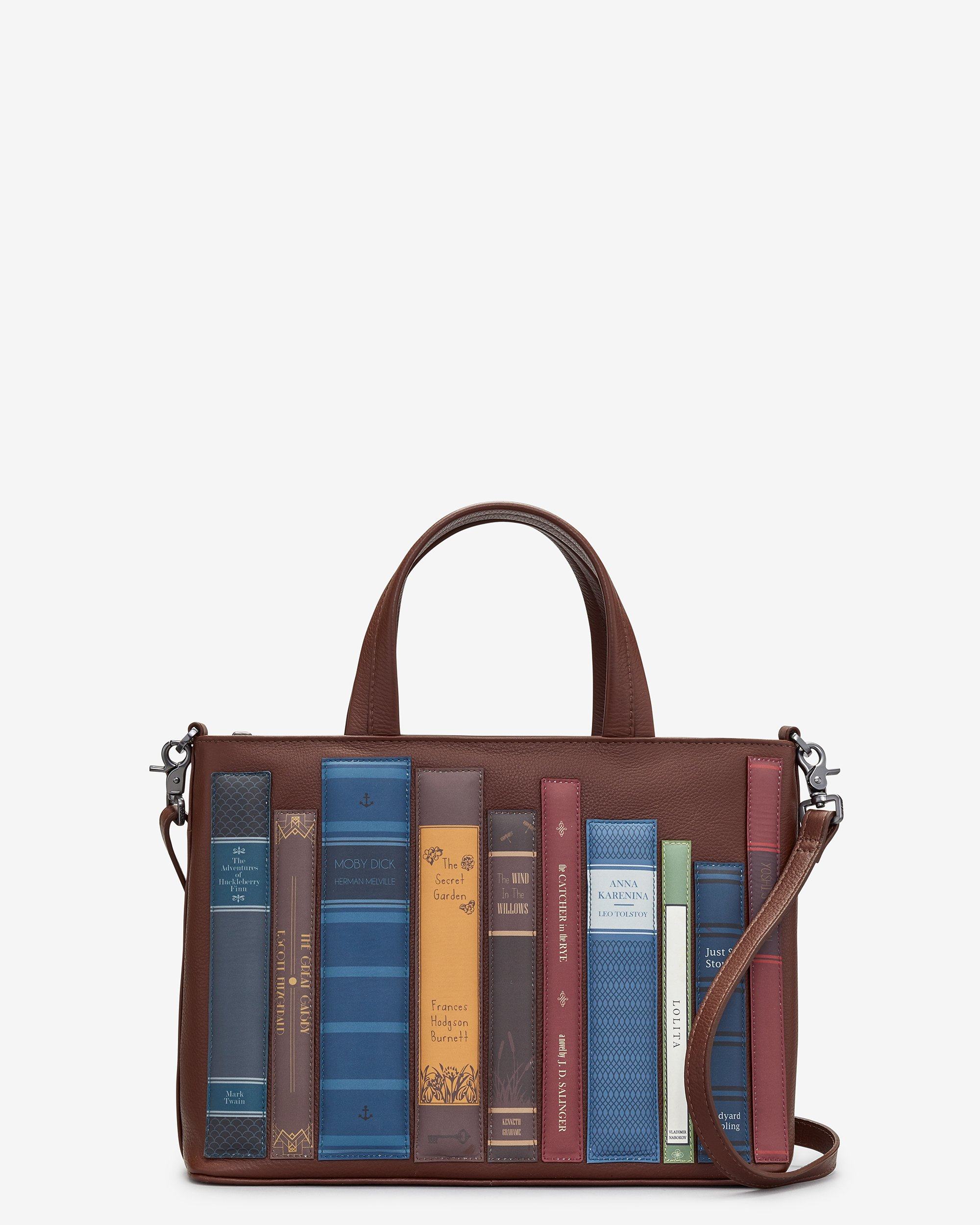 BOOKWORM BROWN LEATHER MULTIWAY GRAB BAG